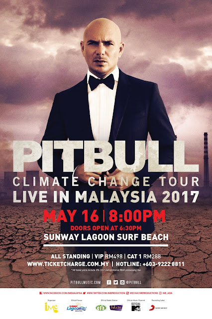 PITBULL CLIMATE CHANGE TOUR LIVE IN MALAYSIA 2017 @ Sunway Lagoon Surf Beach