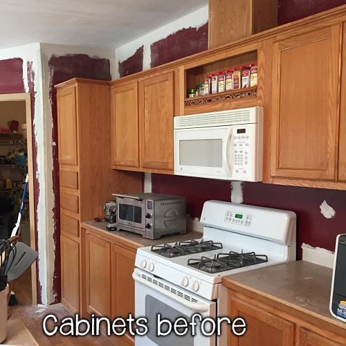 cabinets before painting