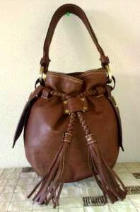 Givenchy Chocolate Brown Leather Pumpkin Bag with Tassels