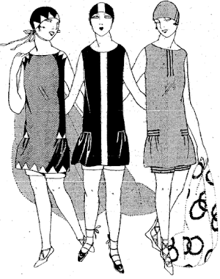 The Vintage Pattern Files: Free 1920's Sewing Pattern - Swimming Costume / Costume de Bain
