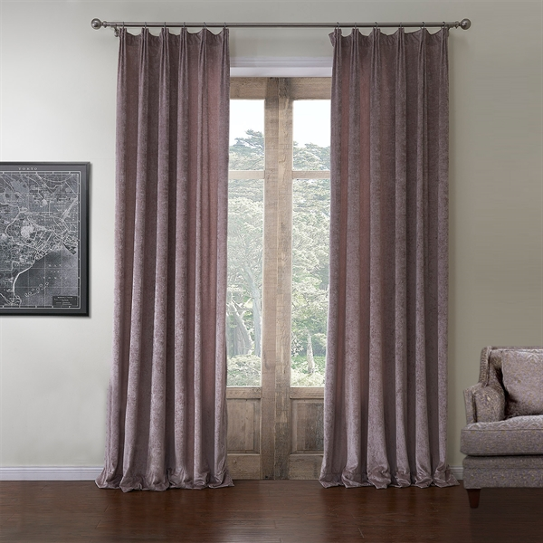 Room Darkening Curtain Rococo Solid Pattern Polyester & Cotton Custom Curtain - 580 ( One Panel )