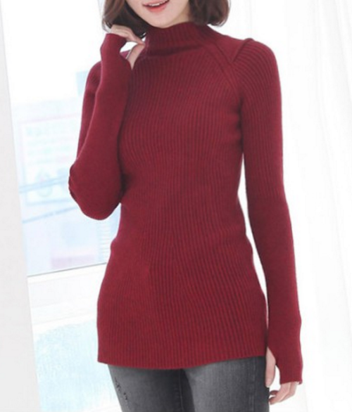 High Neck Raglan Sleeved Pullover