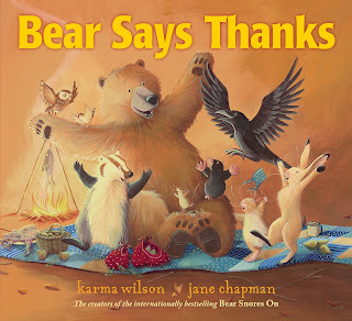 Bear Says Thanks gratitude activity for kids