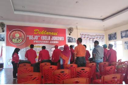 Deklarasi BEJO (Bela Jokowi)  di Jambi Hanya Dihadiri 14 Orang