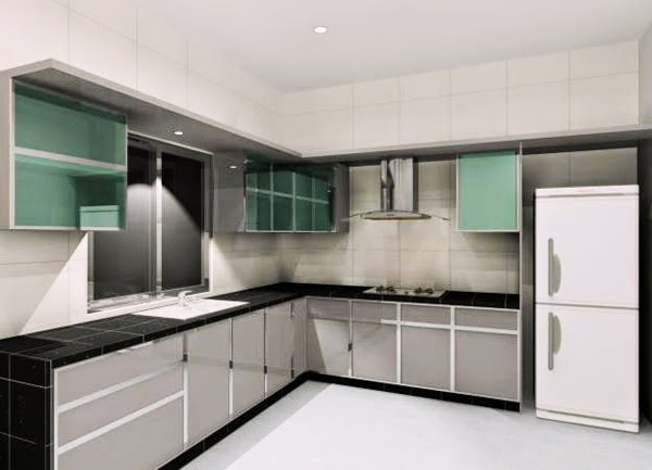 Fafatintin 041 kabinet dapur idaman for Kitchen set hitam putih
