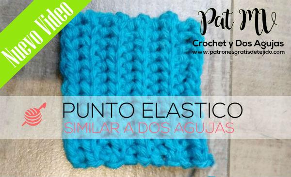 como-tejer-punto-elastico-crochet