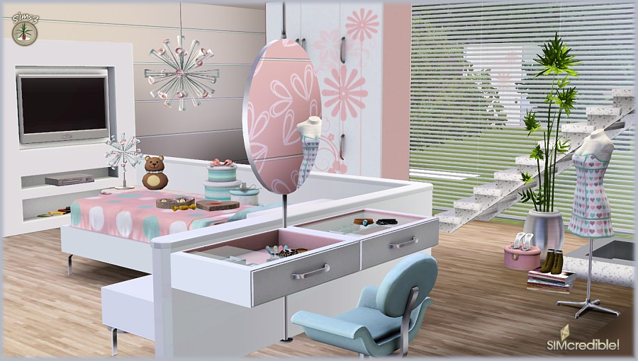 My Sims 3 Blog Petala Bedroom And Decor By Simcredible Designs