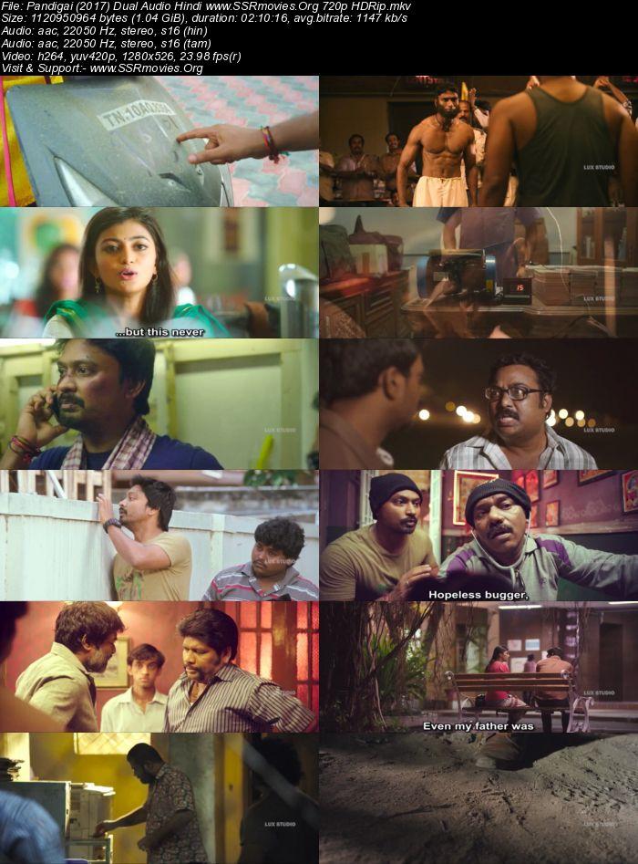 Pandigai (2017) Dual Audio Hindi 720p HDRip