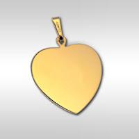 Gravure de photo et de portrait sur Médaille grand Coeur Or 18 carats - O 08