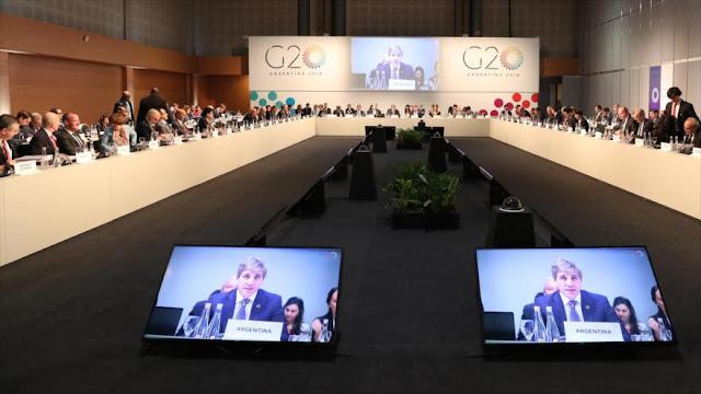 G20 advierte sobre consecuencias de guerra comercial de EEUU