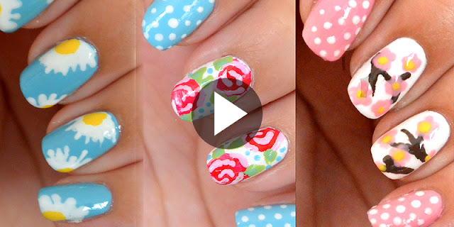 3 Easy And Simple Floral Nail Designs - See Tutorial