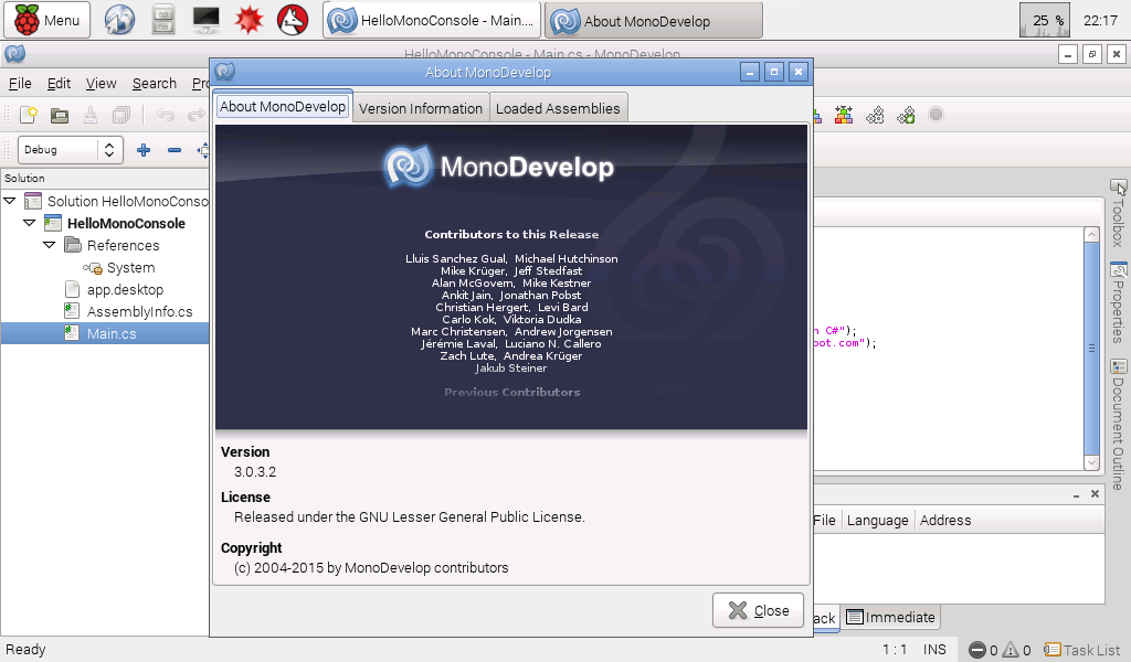 Hello Raspberry Pi: Install Mono/MonoDevelop on Raspberry Pi