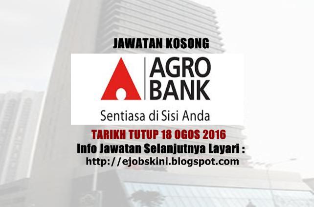 Jawatan Kosong Bank Pertanian Malaysia Berhad (Agrobank)