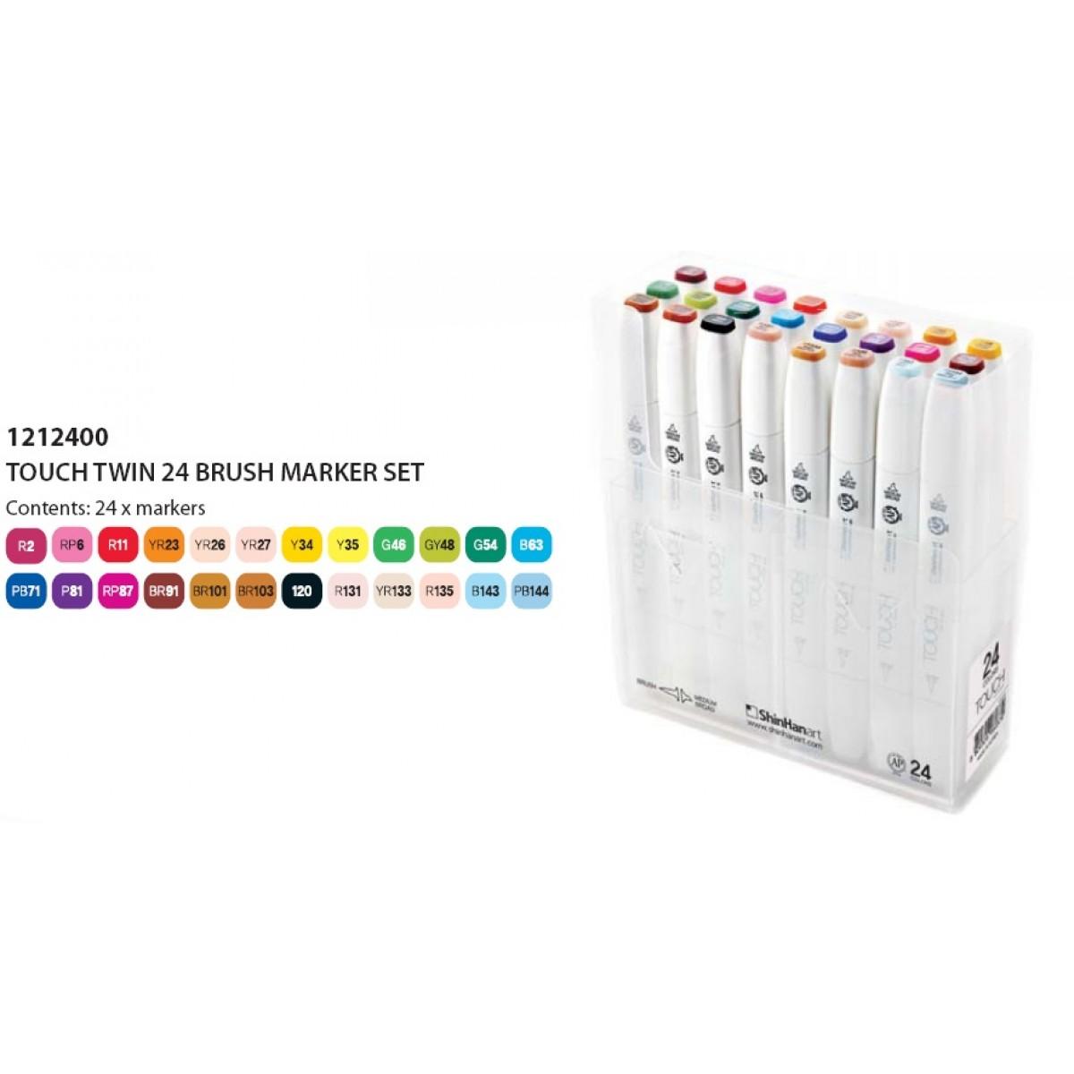 ShinHan Touch Twin Brush Marker Set 24