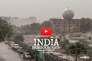Monsoon rain in INDIA | New Delhi World travel WELTREISE