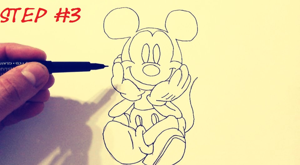 step by step mickey mouse drawing tutorial easy mickey