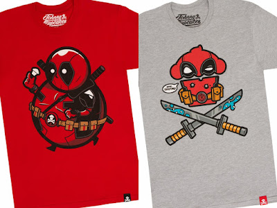 "Deadpool Inspired Johnny Cupcakes T-Shirts ""Mercenary Big Kid"" & ""Mercenary Crossbones"""