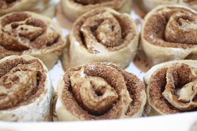 Rollos de calabaza y canela / Pumpkin cinnamon rolls