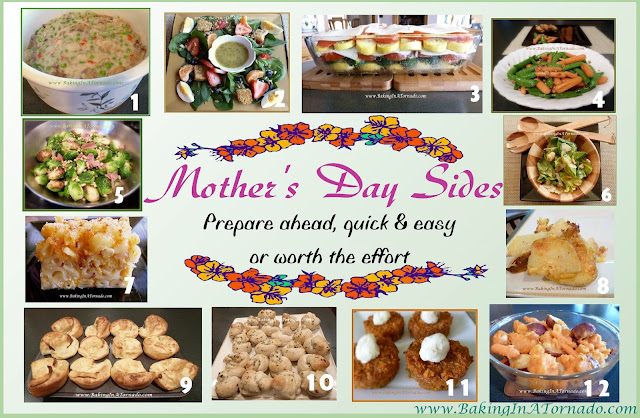 Mother's Day Side Dish recipes | www.BakingInATornado.com | #MyGraphics #recipe