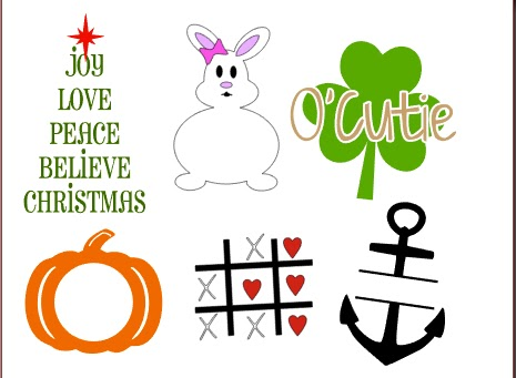 Silhouette Studio, free cut files, seasonal
