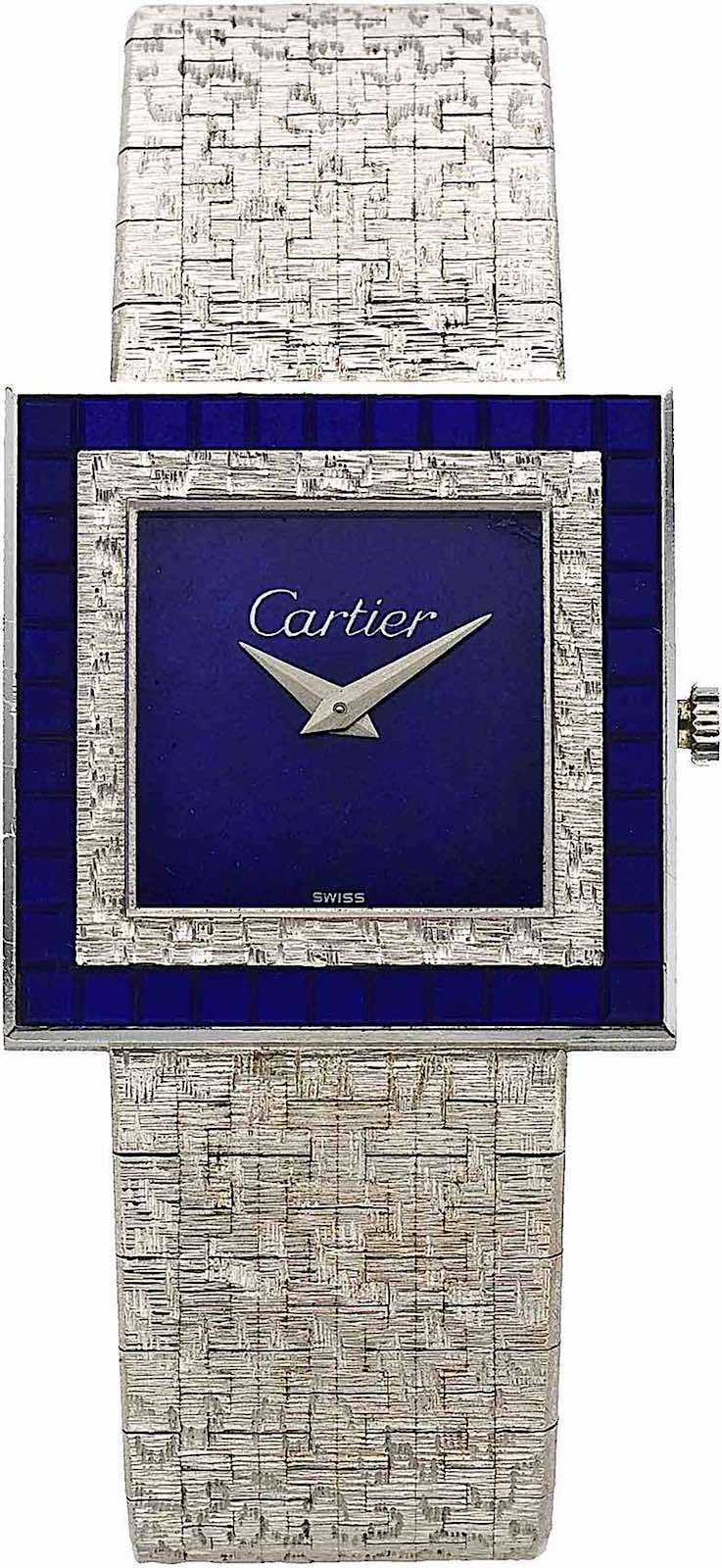 a Cartier watch photograph, 1970 silver and blue