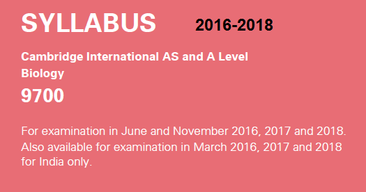 AS and A level Biology - Pearson qualifications