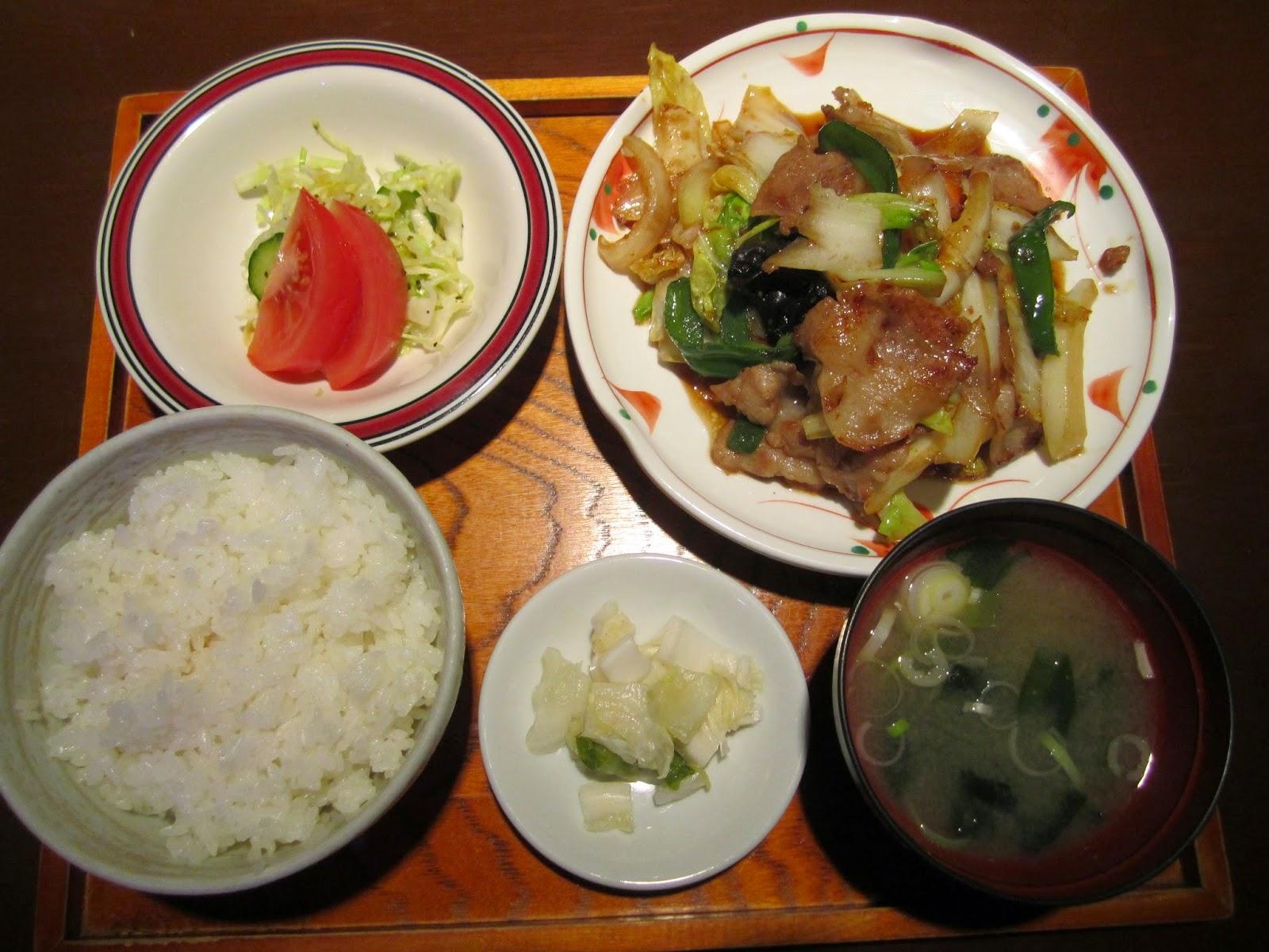Yasai Itame Fu Yakiniku Pork Set Isshin 野菜炒め風焼肉ポークセット イッシン