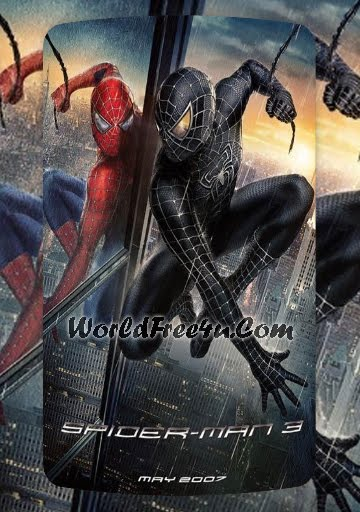 Poster Of Free Download Spiderman 3 2007 300MB Full Movie Hindi Dubbed 720P Bluray HD HEVC Small Size Pc Movie Only At worldfree4u.com