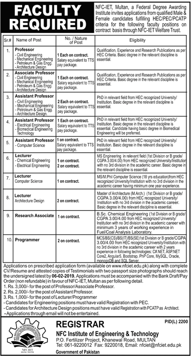 nfc institute of engineering and fertilizer research fasilabad,nfc institute of engineering and technological training (organization),engineering,nfc,nfc university jobs,nfc university multan jobs,nfc technical officer jobs,nfc multan chemical engineering faculty nfc institute of engineering & technology,omfut tech and jobs,nfc b tech jobs,nfc iet,nfc multan faculty jobs,nfc october jobs