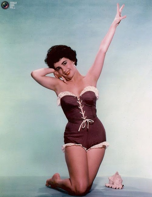 37 Beautiful Vintage Photos of Elizabeth Taylor in Bathing Suits in the 1940s and 1950s ...