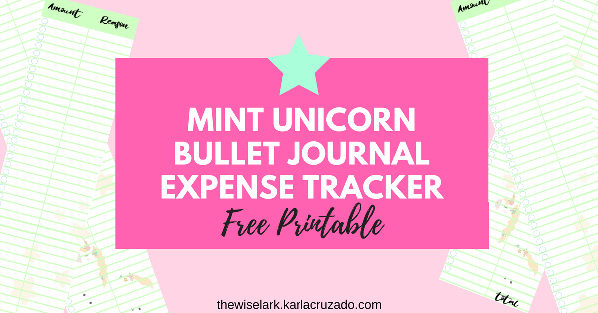 daily expense tracker printable