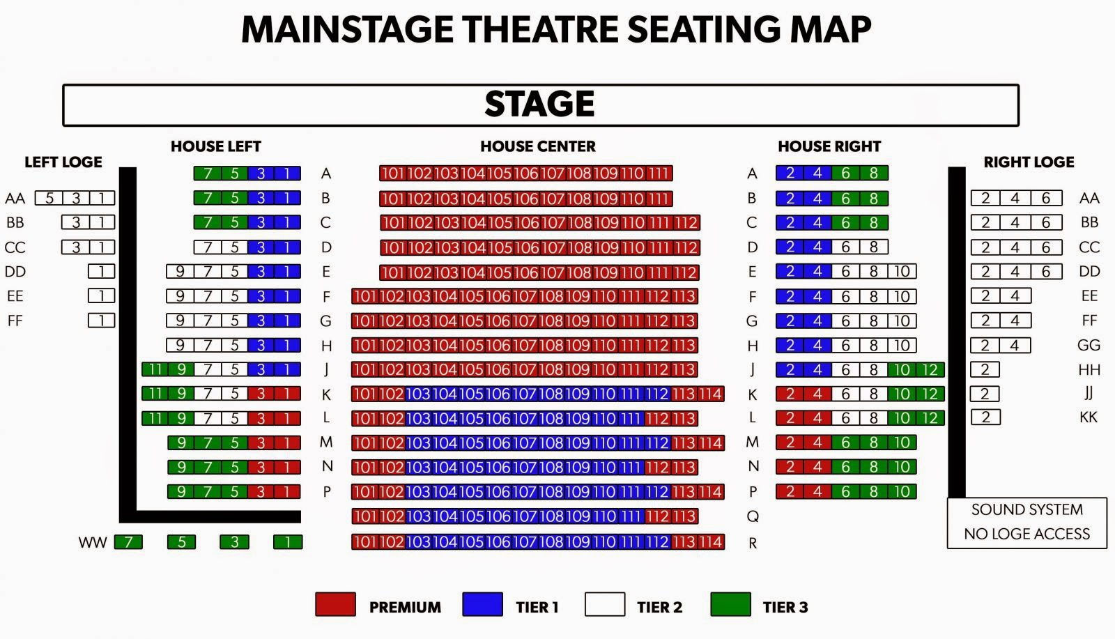 Phx Stages  Seating Charts