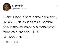 Los quemasangre (Chirigota). COAC 2019