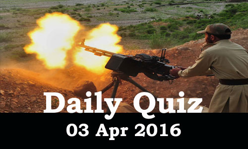 Daily Current Affairs Quiz - 03 Apr 2016