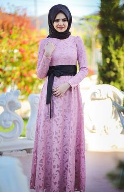 model-baju-gamis-muslim-brokat