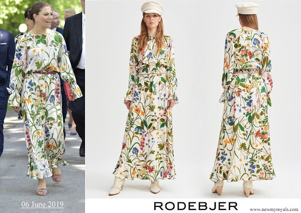 Crown Princess Victoria wore Rodebjer irmaline top and skirt