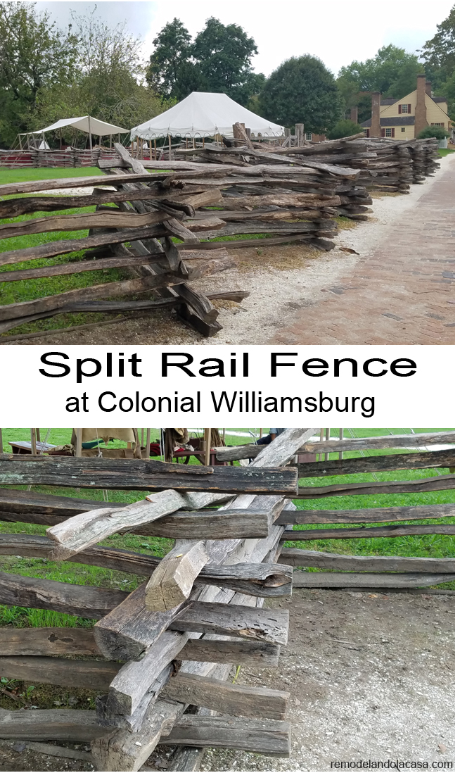 split rail fence williamsburg - zoom in shot