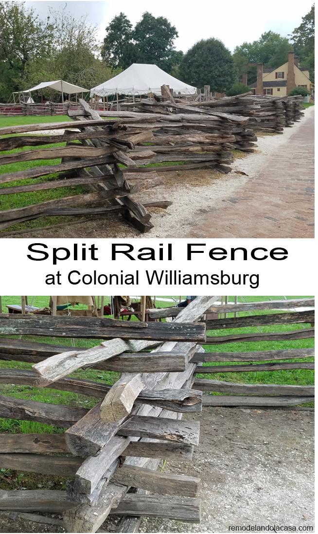 split rail fence williamsburg - zoom in shot