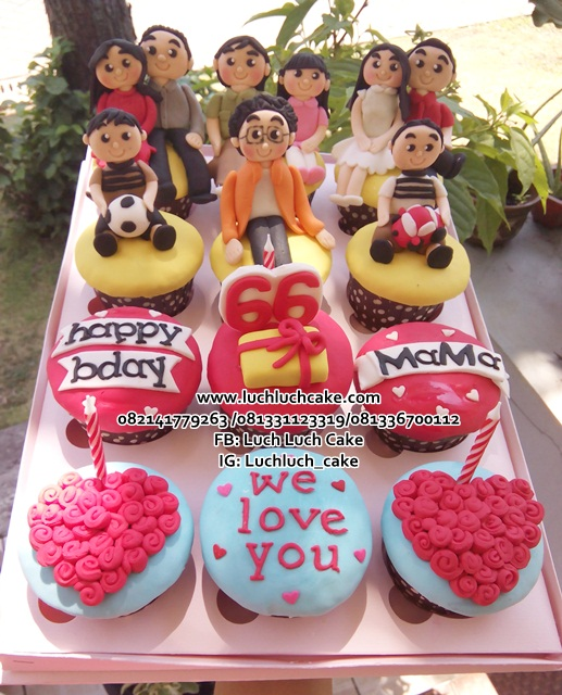 Cupcake Ulang Tahun Untuk Oma