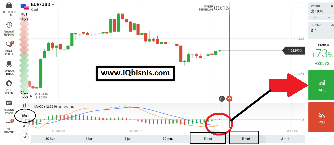 Trik Jitu Strategi Sukses Trading Binary IQ Option 60 Detik Pasti Profit