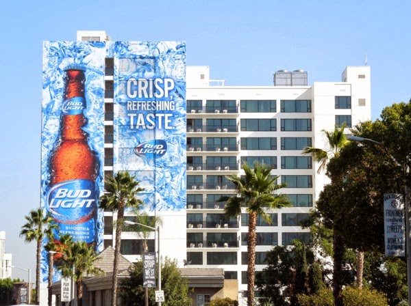 Giant Bud Light Crisp Taste billboard