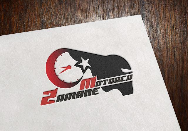 motorcu logo tasarımı renkli