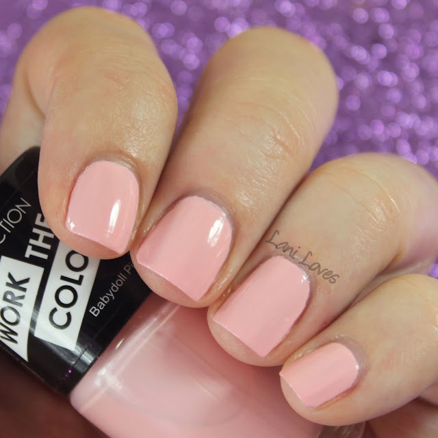 Collection Work the Colour Babydoll Pink Nail Polish Swatches & Review