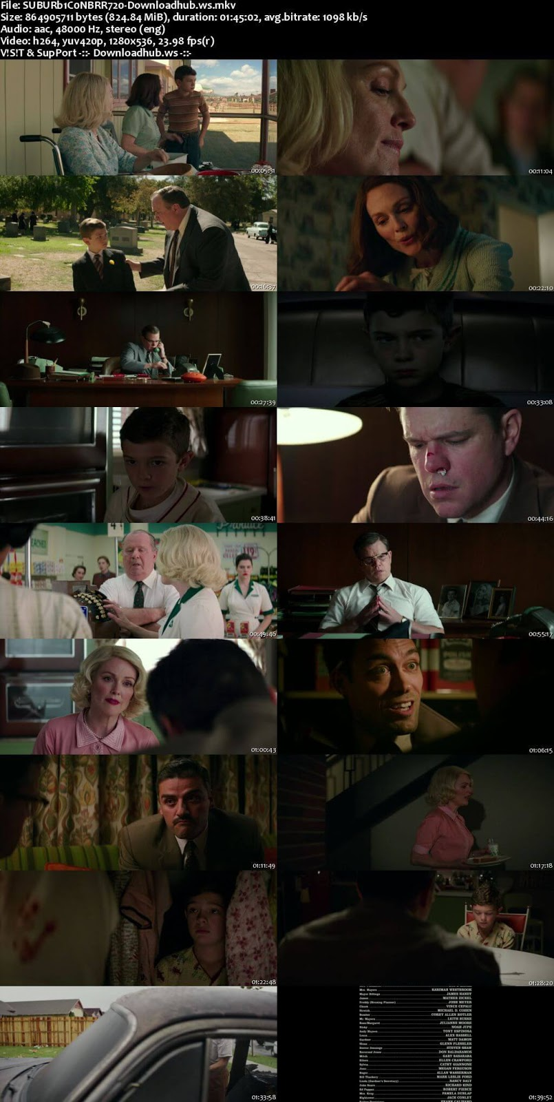 Suburbicon 2017 English 720p BRRip 800MB ESubs
