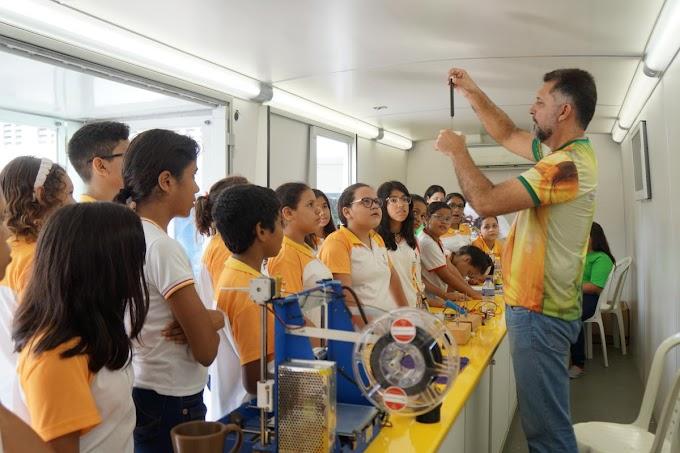 Sobral recebeu o ônibus laboratório do Projeto Ciência Itinerante