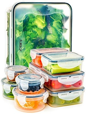 Fullstar Plastic Containers - Food Storage Translucent Boxes