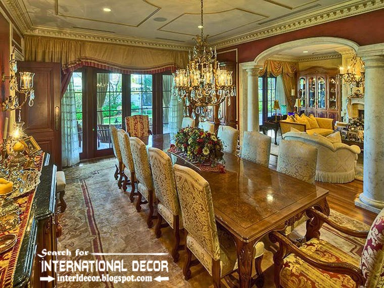 Mediterranean Palace In Florida, American Colonial Style, Classic Dining  Room 2015
