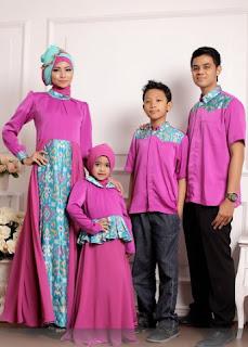 Baju batik lebaran modern yang fashionable