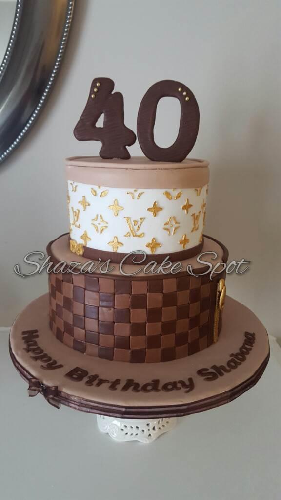 Incredible Shazas Cake Spot 40Th Birthday Louis Vuitton Cake Funny Birthday Cards Online Alyptdamsfinfo