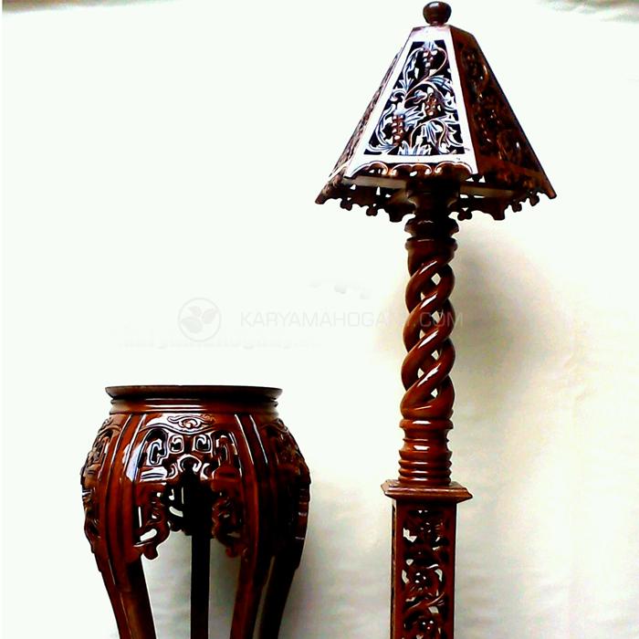 Lampu Hias Ukir Jepara - Model Lampu Hias Kayu